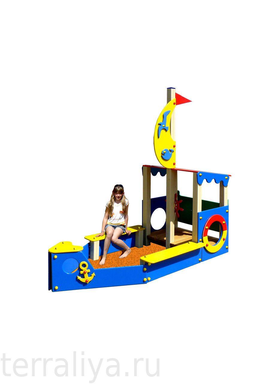 Сделать детский корабль для детской площадки своими руками